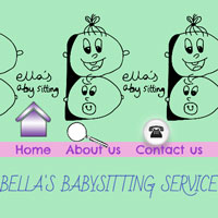 Image of website created by Bella